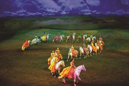 Cavalia Human and Horse Performance in Abu Dhabi