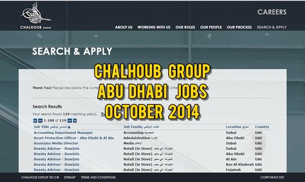 Chalhoub Abu Dhabi Job Openings October 2014