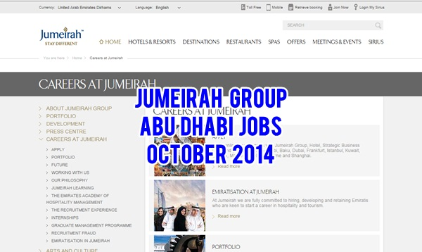 jumeirah job opportunities september 2014 abu dhabi ofw. Black Bedroom Furniture Sets. Home Design Ideas
