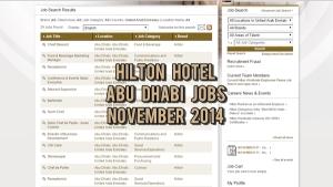 hilton hotel jobs november 2014