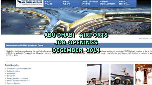 Abu Dhabi Airports Job Vacancies December 2014