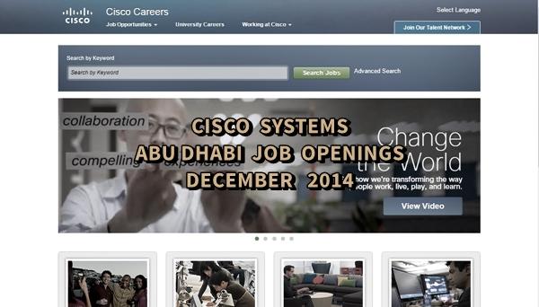 Cisco Abu Dhabi Job Openings December 2014