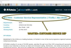 customer service rep abu dhabi