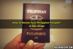 How to Renew your Philippine Passport in Abu Dhabi