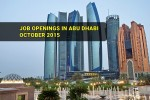 Job Openings in Abu Dhabi October 2015