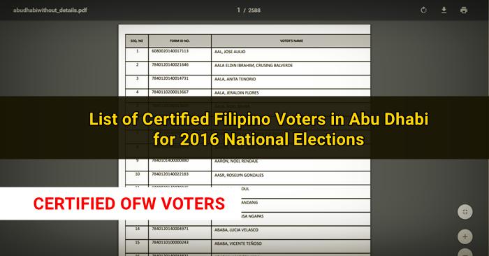 filipino voters abu dhabi