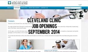 cleveland clinic abu dhabi jobs