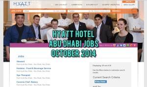 hyatt hotel abu dhabi careers 2014