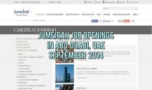 jumeirah abu dhabi jobs