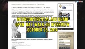 intercontinental abu dhabi careers october 2014