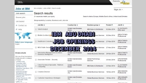 IBM uae jobs abu dhabi december 2014