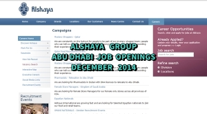 alshaya group jobs abu dhabi december 2014