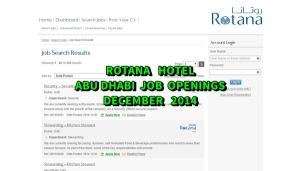 rotana hotel jobs abu dhabi december 2014