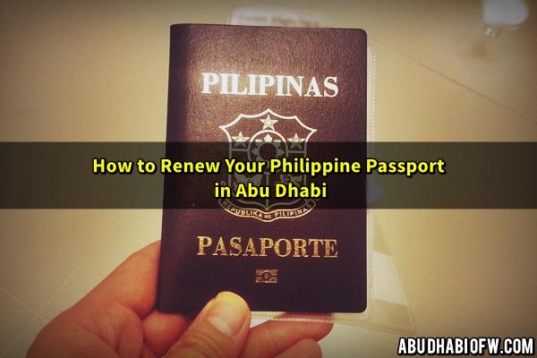 renew philippine passport abu dhabi