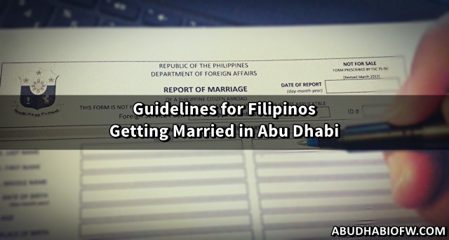 guidelines for filipinos getting married in abu dhabi