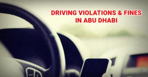 abu dhabi driving violations