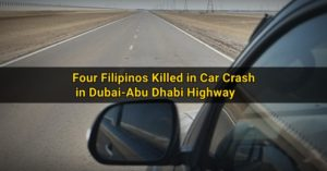 four pinoys killed abu dhabi dubai crash