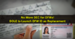 No More OEC for OFWs, iDOLE OFW ID card as Replacement