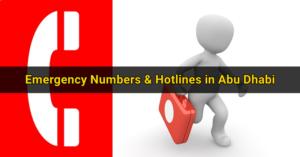 Emergency Numbers and Hotlines in Abu Dhabi