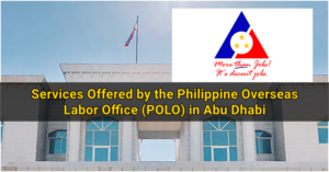 Services Offered by the Philippine Overseas Labor Office (POLO) in Abu Dhabi