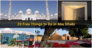 20 Free Things to Do in Abu Dhabi