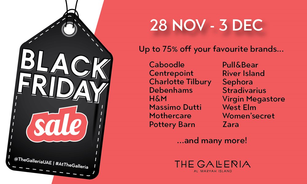 The Galleria Al Maryah Island Black Friday Sale
