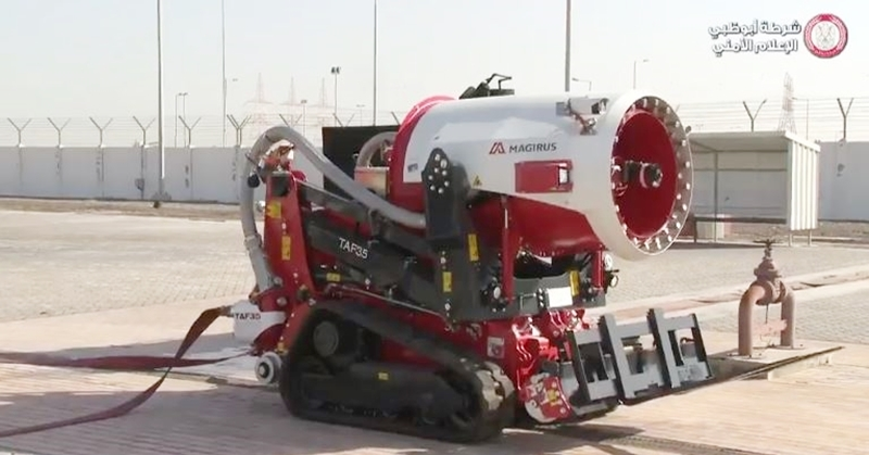 WATCH Abu Dhabi Tests Fire-Fighting Robot